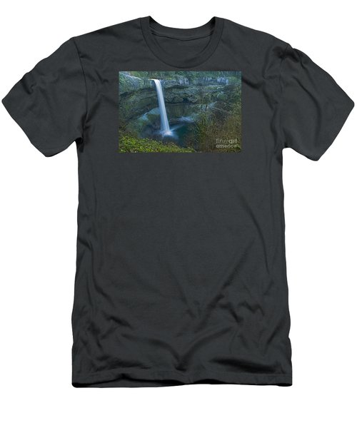 Men's T-Shirt (Slim Fit) featuring the photograph South Falls Winterscape by Nick  Boren