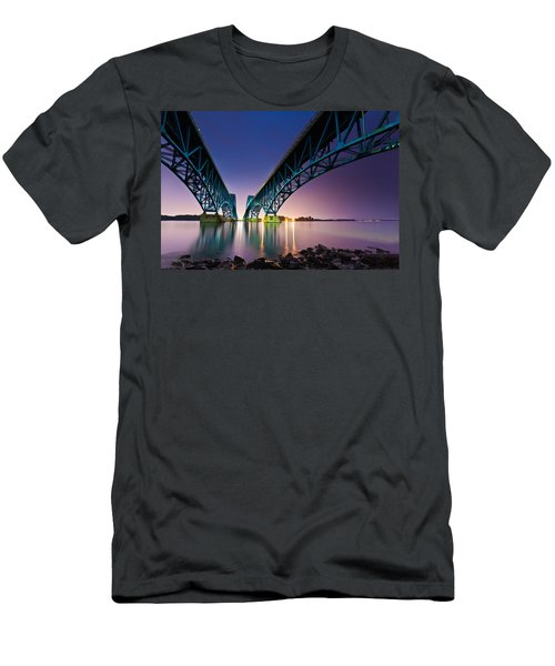 South Grand Island Bridge Men's T-Shirt (Athletic Fit)