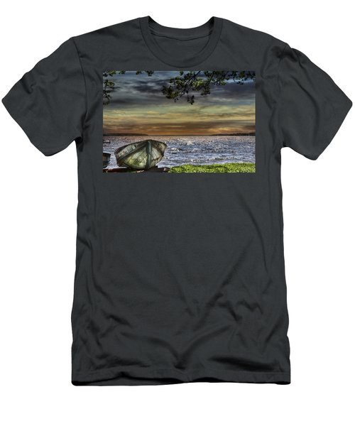 South Manistique Lake With Rowboat Men's T-Shirt (Athletic Fit)