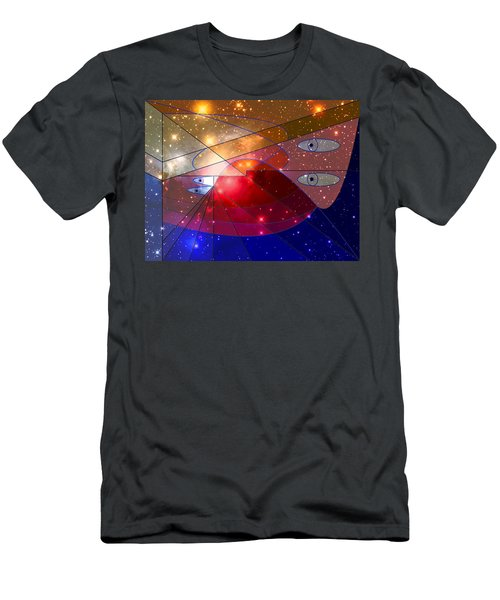 Space Odyssey 08 Men's T-Shirt (Slim Fit) by Ron Davidson