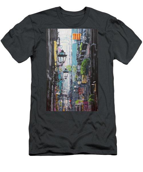 Spain Series 03 Barcelona Men's T-Shirt (Athletic Fit)
