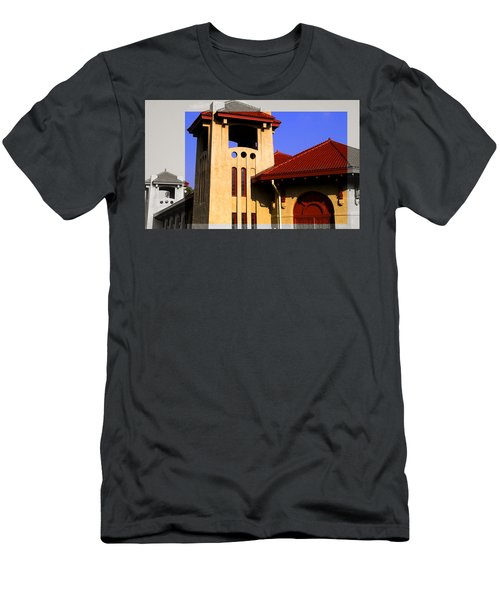 Spanish Architecture Tile Roof Tower Men's T-Shirt (Athletic Fit)