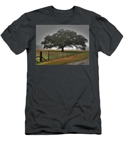 Men's T-Shirt (Slim Fit) featuring the photograph Spanish Oak I by Lanita Williams
