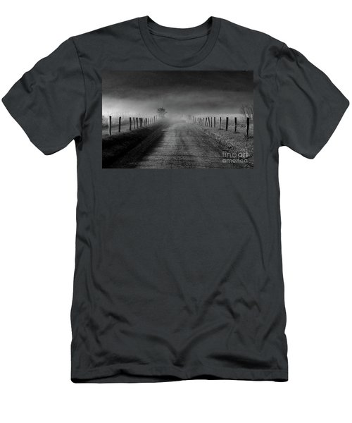 Sparks Lane In Black And White Men's T-Shirt (Slim Fit) by Douglas Stucky