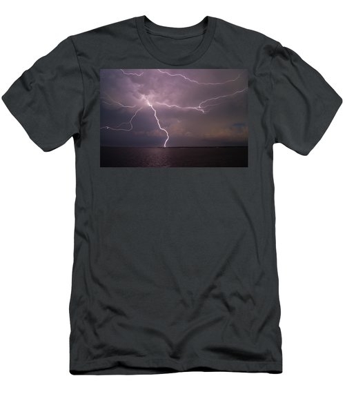 Spider Lightning Over Charleston Harbor Men's T-Shirt (Athletic Fit)