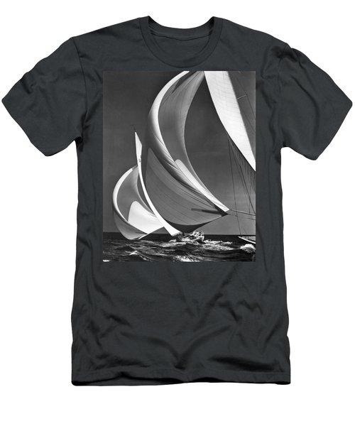 Spinakers On Racing Sailboats Men's T-Shirt (Athletic Fit)