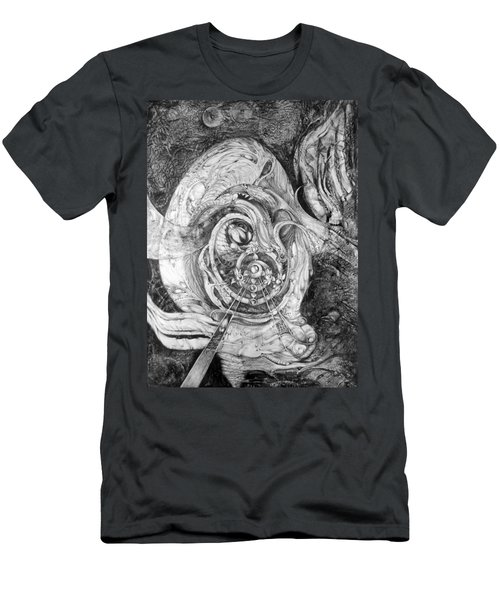 Men's T-Shirt (Slim Fit) featuring the painting Spiral Rapture 2 by Otto Rapp