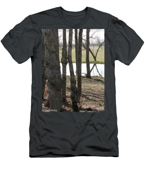 Men's T-Shirt (Slim Fit) featuring the photograph Spiral Trees by Nick Kirby