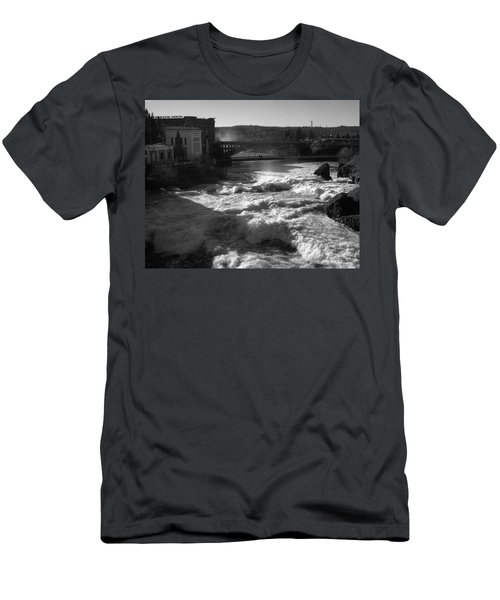 Spokane Falls Spring Flow Men's T-Shirt (Athletic Fit)