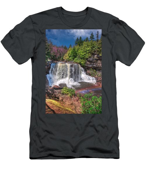 Spring At Blackwater Falls Men's T-Shirt (Athletic Fit)