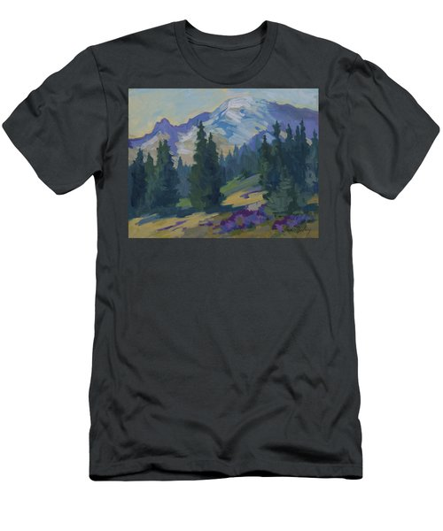 Spring At Mount Rainier Men's T-Shirt (Athletic Fit)