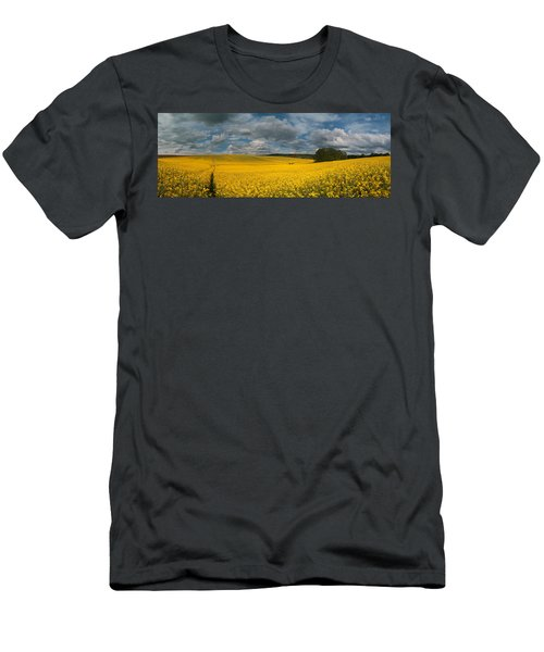 Spring At Oilseed Rape Field Men's T-Shirt (Athletic Fit)