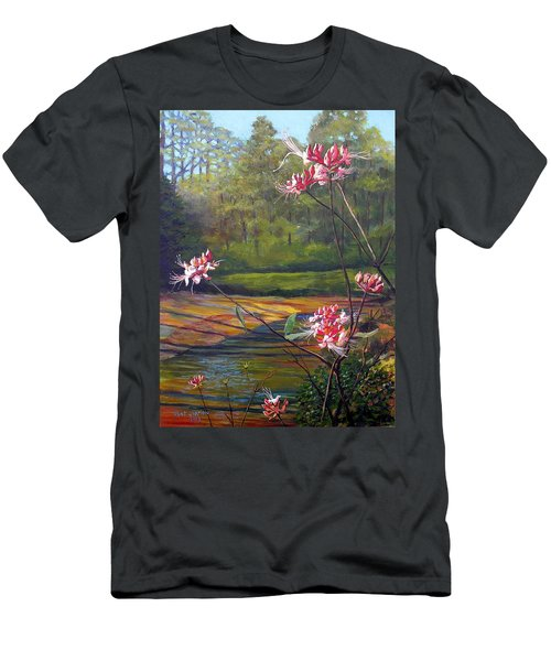 Spring Blooms On The Natchez Trace Men's T-Shirt (Slim Fit) by Jeanette Jarmon