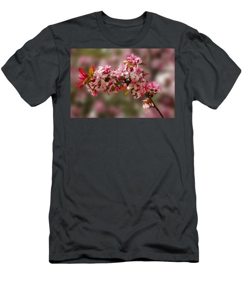 Cheery Cherry Blossoms Men's T-Shirt (Athletic Fit)