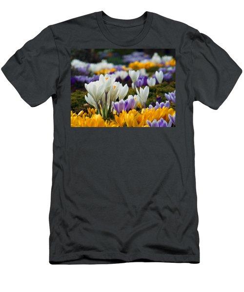 Men's T-Shirt (Slim Fit) featuring the photograph Spring Crocus by Dianne Cowen