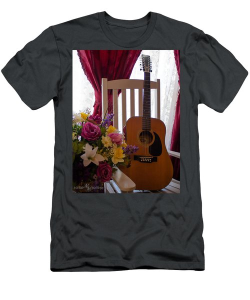 Spring Guitar Men's T-Shirt (Athletic Fit)
