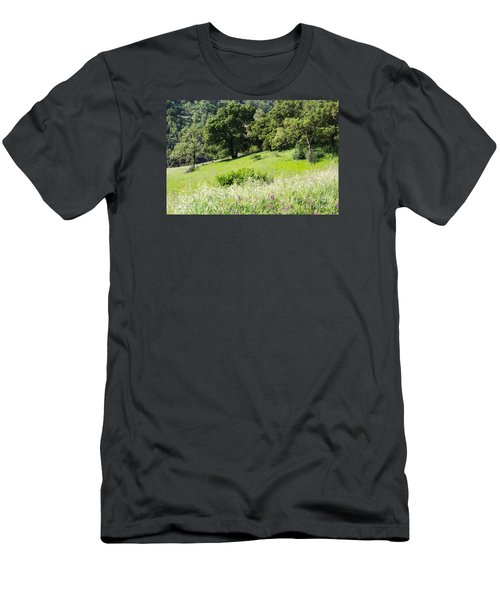 Men's T-Shirt (Slim Fit) featuring the photograph Spring Hike by Suzanne Luft