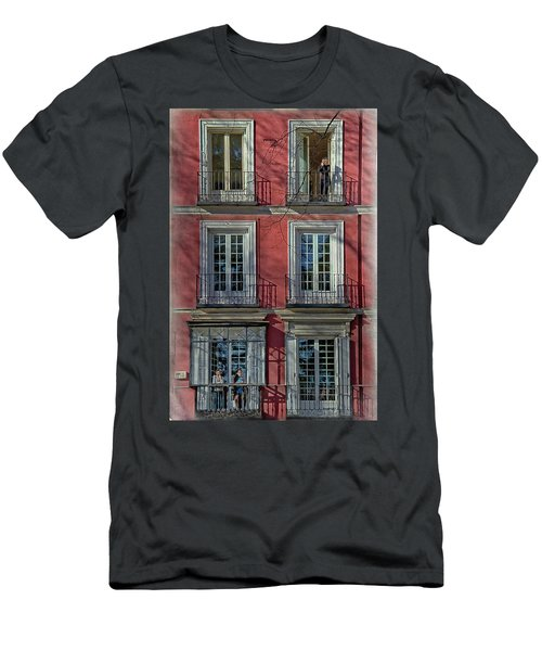 Spring Sunshine In Madrid Men's T-Shirt (Athletic Fit)