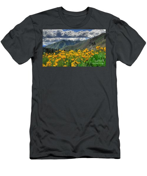 Springtime At Gallagher Men's T-Shirt (Slim Fit) by Sam Rosen