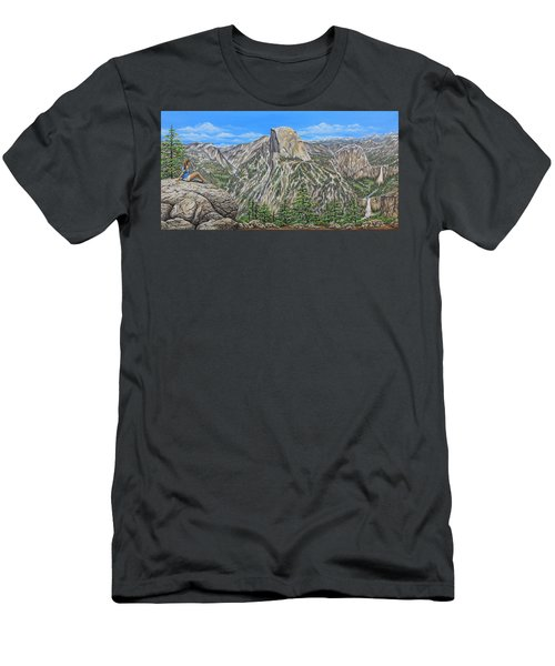 Springtime In Yosemite Valley Men's T-Shirt (Athletic Fit)