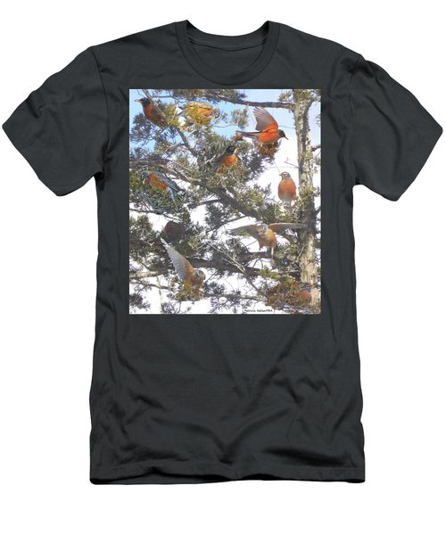 Springtime Moments- Birds Of A Feather Men's T-Shirt (Athletic Fit)