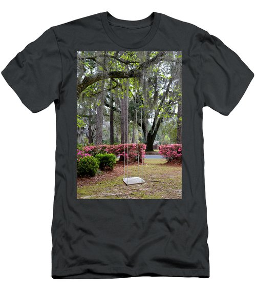 Springtime Swing Time Men's T-Shirt (Slim Fit) by Carla Parris