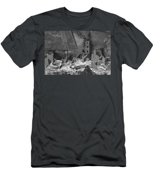 Square Tower At Mesa Verde Bw Men's T-Shirt (Athletic Fit)