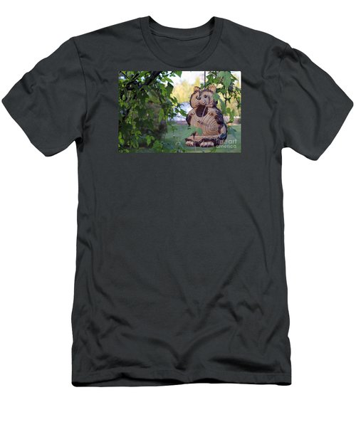 Squirrel Bird Feeder Men's T-Shirt (Athletic Fit)