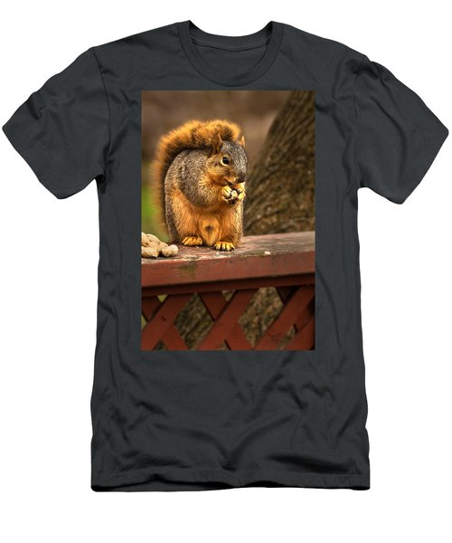 Squirrel Eating A Peanut Men's T-Shirt (Athletic Fit)