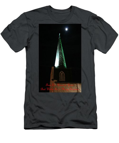 St. Augustine Moon Christmas Card Men's T-Shirt (Athletic Fit)