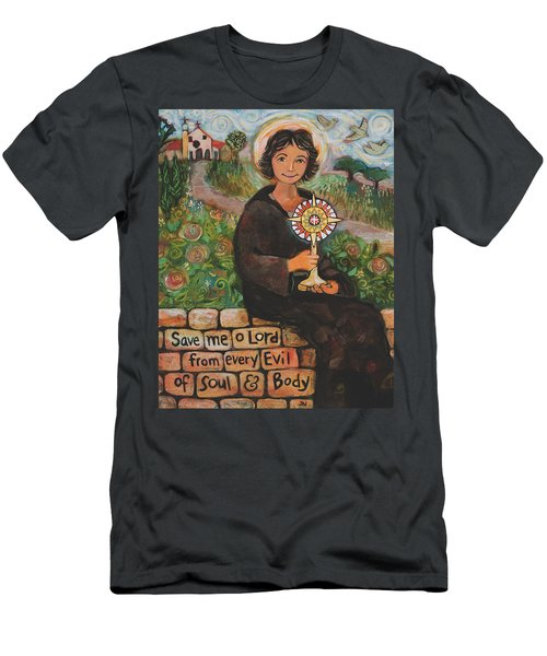 St. Clare Of Assisi Men's T-Shirt (Athletic Fit)