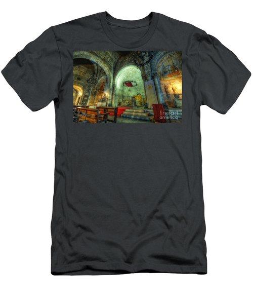 St Pere De Puelles Church - Barcelona Men's T-Shirt (Athletic Fit)