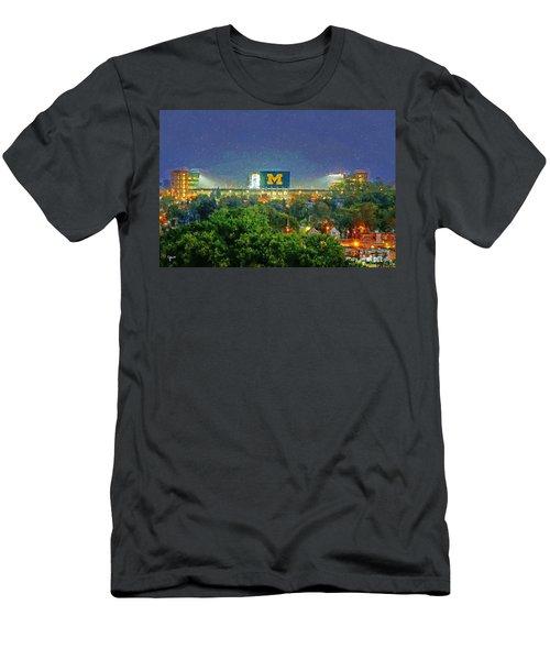 Stadium At Night Men's T-Shirt (Slim Fit) by John Farr