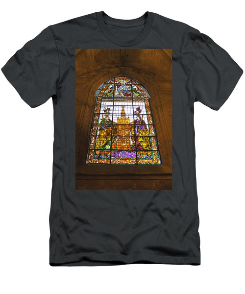 Stained Glass Window In Seville Cathedral Men's T-Shirt (Athletic Fit)