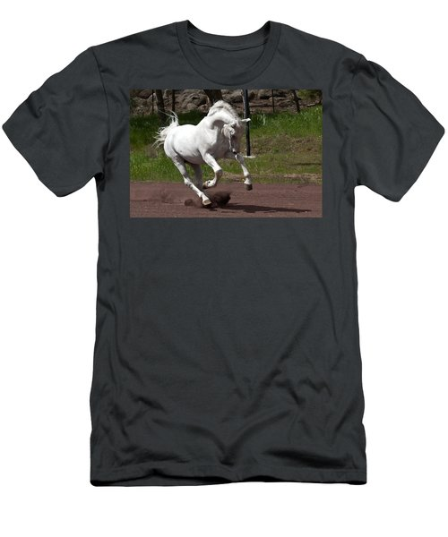 Men's T-Shirt (Slim Fit) featuring the photograph Stallion D4052 by Wes and Dotty Weber