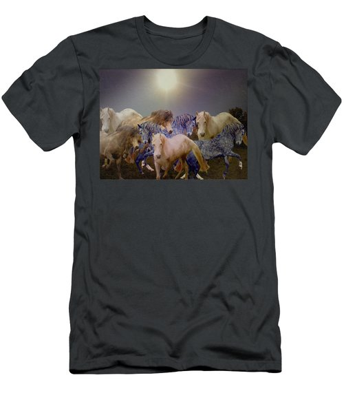 Stallions On Stage As Vivaldi's Spring Plays Men's T-Shirt (Athletic Fit)
