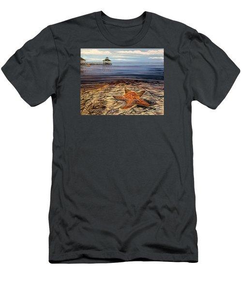 Starfish Drifting Men's T-Shirt (Slim Fit) by Marilyn  McNish