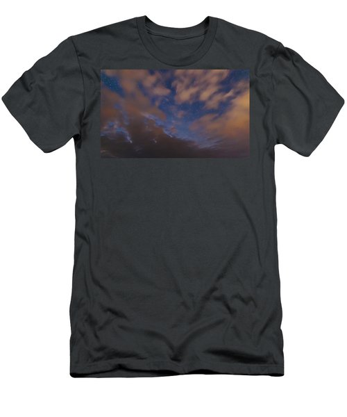 Men's T-Shirt (Slim Fit) featuring the photograph Starlight Skyscape by Marty Saccone