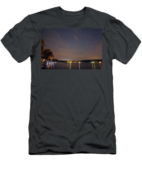 Stars Over Conesus Men's T-Shirt (Slim Fit) by Richard Engelbrecht