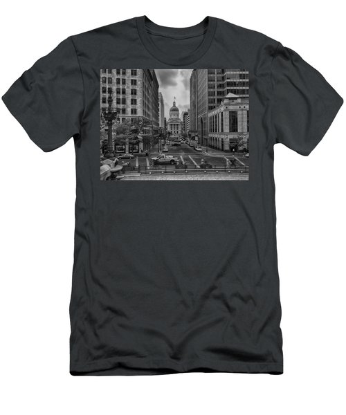 Men's T-Shirt (Athletic Fit) featuring the photograph State Capitol Building by Howard Salmon