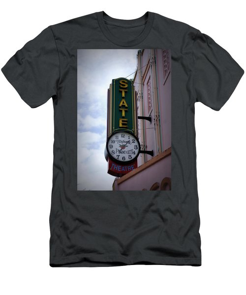 State Theatre Sign Men's T-Shirt (Slim Fit) by Laurie Perry