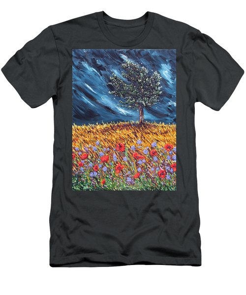 Men's T-Shirt (Slim Fit) featuring the painting Steadfast Love by Meaghan Troup