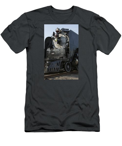 Steam Engine U P 844 Men's T-Shirt (Slim Fit) by Jane Eleanor Nicholas