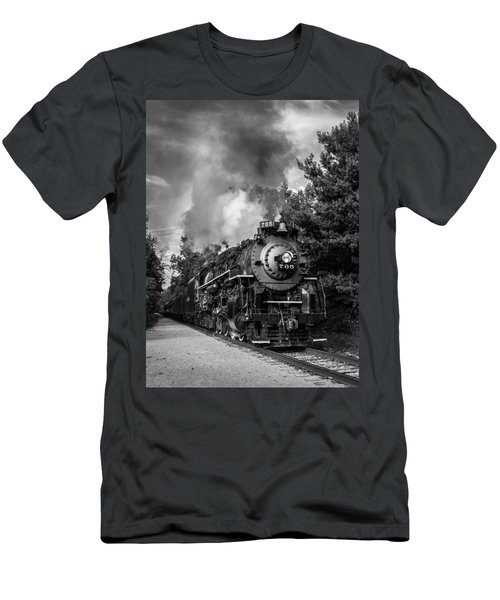 Steam On The Rails Men's T-Shirt (Athletic Fit)