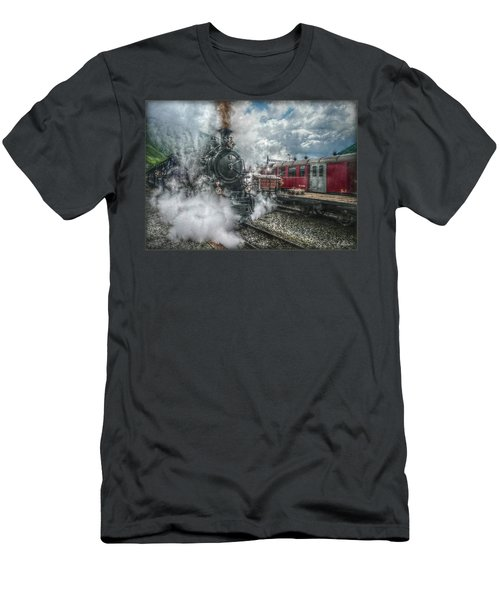 Men's T-Shirt (Slim Fit) featuring the photograph Steam Train by Hanny Heim
