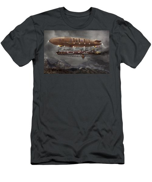 Steampunk - Blimp - Airship Maximus  Men's T-Shirt (Athletic Fit)