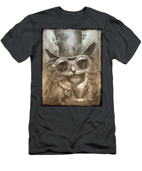 Steampunk Cat Men's T-Shirt (Athletic Fit)