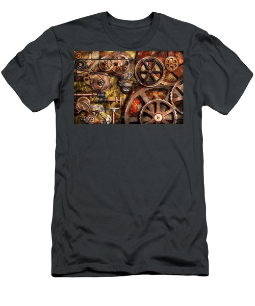 Steampunk - Gears - Inner Workings Men's T-Shirt (Athletic Fit)