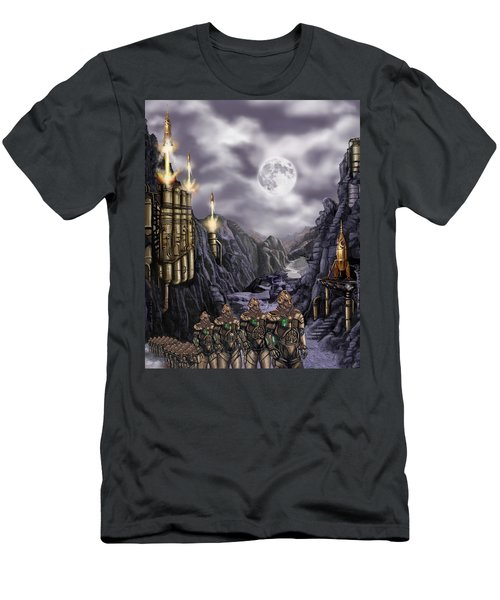 Steampunk Moon Invasion Men's T-Shirt (Athletic Fit)