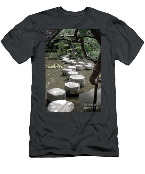 Stepping Stone Kyoto Japan Men's T-Shirt (Athletic Fit)